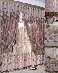 Rose Colored Curtains Feeling Leaf Dark Color Sheer And Window Art Curtains