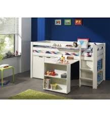 lit combin avec bureau lit combiné pour enfant avec commode bureau bibliothèque coloris