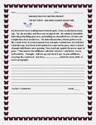 summer creative writing prompt the butterfly the flower