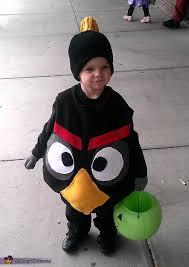 Bird Halloween Costume Diy Black Angry Bird Costume