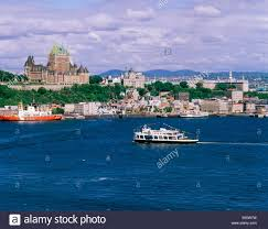 quebec city skyline with chateau frontenac hotel towering over
