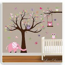 Tree Wall Decal For Nursery Wall Decals Elephant Wall Decals For Nursery High