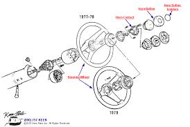 keen corvette 1981 corvette steering wheel horn button parts parts