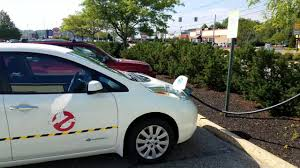 nissan leaf level 1 charger dc fast charging my all electric ghostbusters car nissan leaf