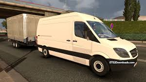 bmw sprinter van mercedes benz sprinter trailer ets 2 mods ets2downloads