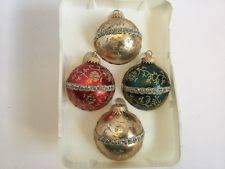 time 18 glass ornaments green gold ebay