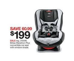 car sales black friday britax marathon plus convertible car seat with window shade deal