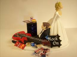guitar cake topper no more rockin guitar wedding cake topper rockstar