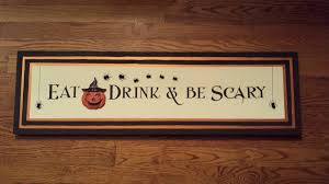 scary halloween signs craft u2013 halloween signs the enchanted manor