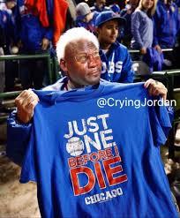 Cubs Fan Meme - this crying jordan meme making fun of an old cubs fan is cruel