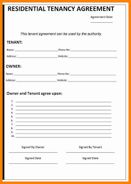 7 free tenancy agreement template assembly resume