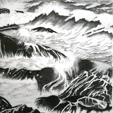 stormy cornish seas julie meese arbsa fine art graphite