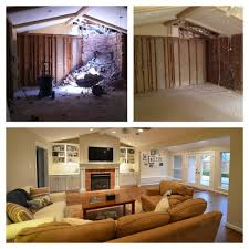 Before And After Living Rooms by Before And After Of Living Room During Construction And