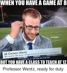 photos and professor qb 25 best memes about carson wentz carson wentz memes