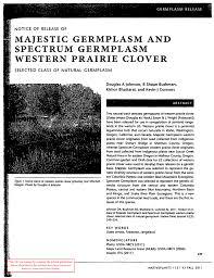 usda native plants majestic germplasm and spectrum germplasm