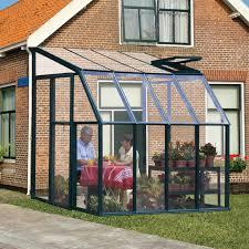 Palram Lean To Greenhouse Rion Sun Lounge 2 6 U0027 X 8 U0027 Patio Enclosure Polycarbonate