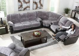 impressive grey reclining sectional cortez premium top grain gray