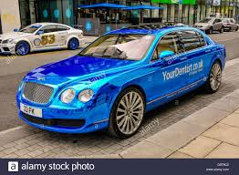 bentley continental flying spur blue a bentley flying spur with blue mirrored paint concierge vehicle