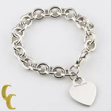 heart tag charm bracelet images Tiffany co sterling silver blank heart tag charm bracelet jpg