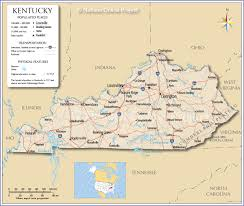 map kentucky lakes rivers kentucky maps and data myonlinemapscom ky state where is best of