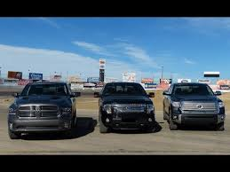 ford raptor vs toyota tundra 2014 toyota tundra vs ford f 150 vs ram 1500 0 60 towing matchup