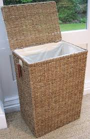 sea grass linen laundry basket with lid hand woven measures 59