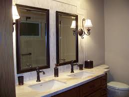 small bathroom design designer sconces energy efficient lighting Lighting In A Bathroom