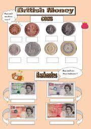 esl worksheets for beginners british money