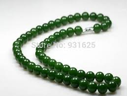 beaded jade necklace images Beautiful 10mm real green jade charming link necklace natural jpg