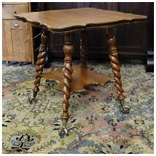 claw foot table with glass balls in the claw quartersawn oak parlor table with glass ball claw feet sold ruby