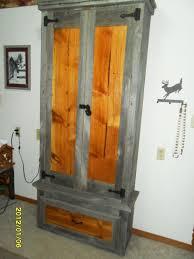 Pine Gun Cabinet Barnwood Gun Cabinet By Hanman Lumberjocks Com Woodworking