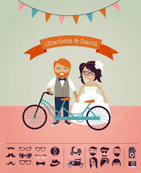 Invitation Card Stock Hipster Wedding Design Your Own Invitation Card U2014 Stock Vector