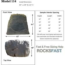 dekorra mock rock 114 pump house well tank cover fake rocks click