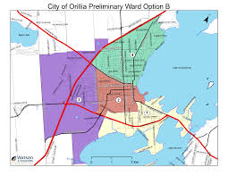 Lan Route Map by Ward Boundary Review City Of Orillia