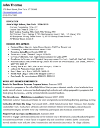 A Resume Format For A Job by Write Properly Your Accomplishments In College Application Resume