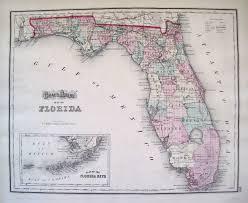 A Map Of Florida Antique Maps Of Florida