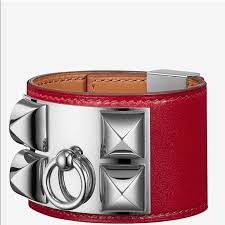 hermes bracelet images Hermes jewelry collier de chien bracelet cuff rouge vif poshmark jpg