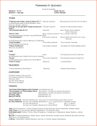 Resume Sample Hk by Dance Resume Format