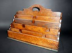 Desk Mail Organizer 3 Tier Country Rustic Vintage Wood Office Desk File Organizer Mail
