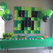 minecraft party decorations the best party decorating ideas themes kitchen with my 3 sons