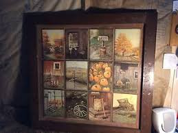 ebay home interiors vintage home interiors b mitchell fall harvest 12 window pane