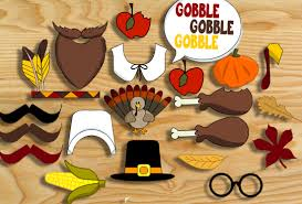 thanksgiving props photo booth props free printable