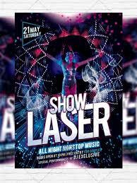 laser show u2013 premium flyer template facebook cover