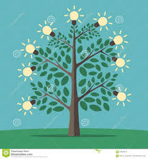 tree of creative ideas stock vector illustration of concept
