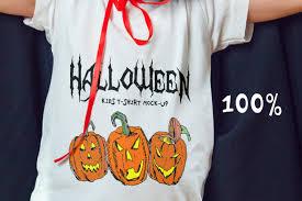 kids halloween t shirts halloween kids t shirt mock up by freem design bundles