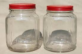kitchen glass canisters with lids vintage kitchen storage jars probeta info