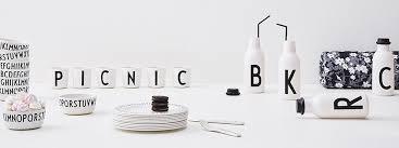 buchstaben design design letters geschirr accessoires