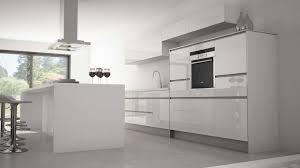 cuisine design blanche cuisine laquee blanche plan de travail gris get green design de maison