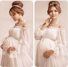 new white lace maternity dress photography props lace dress