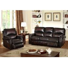 Sofa And Recliner Crestview Brown Top Grain Leather Lay Flat Reclining Sofa And